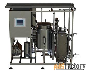 пастеризатор для пива производительностью 1000 л/час