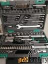 Набор инструментов 1/2», 1/4», CrV, 82 пр., пластиковый кейс STELS 141