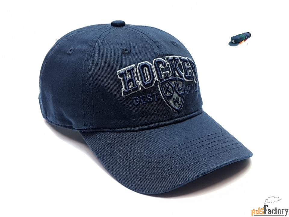 Бейсболка кепка Хоккей (т.синий) Hockey