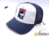 Бейсболка кепка Fila сетка ( т.синий )