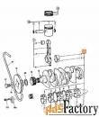 Коленвал двигателя AA AB AC Perkins JCB 02/101825 02/100012 02/201287