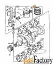 Кольца поршневые (комплект на 1 поршень) АВ JCB 02/201140
