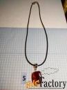 Кулоны, подвески из янтаря на шнурке