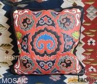 Кожаная подушка  ( татарская кожаная мозаика ).