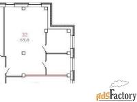 офисное помещение, 65,4 м²