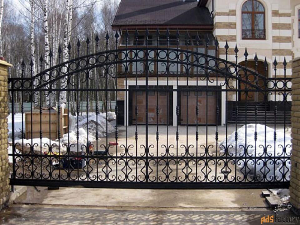 Кованые распашные ворота - изготовим на заказ по вашим размерам