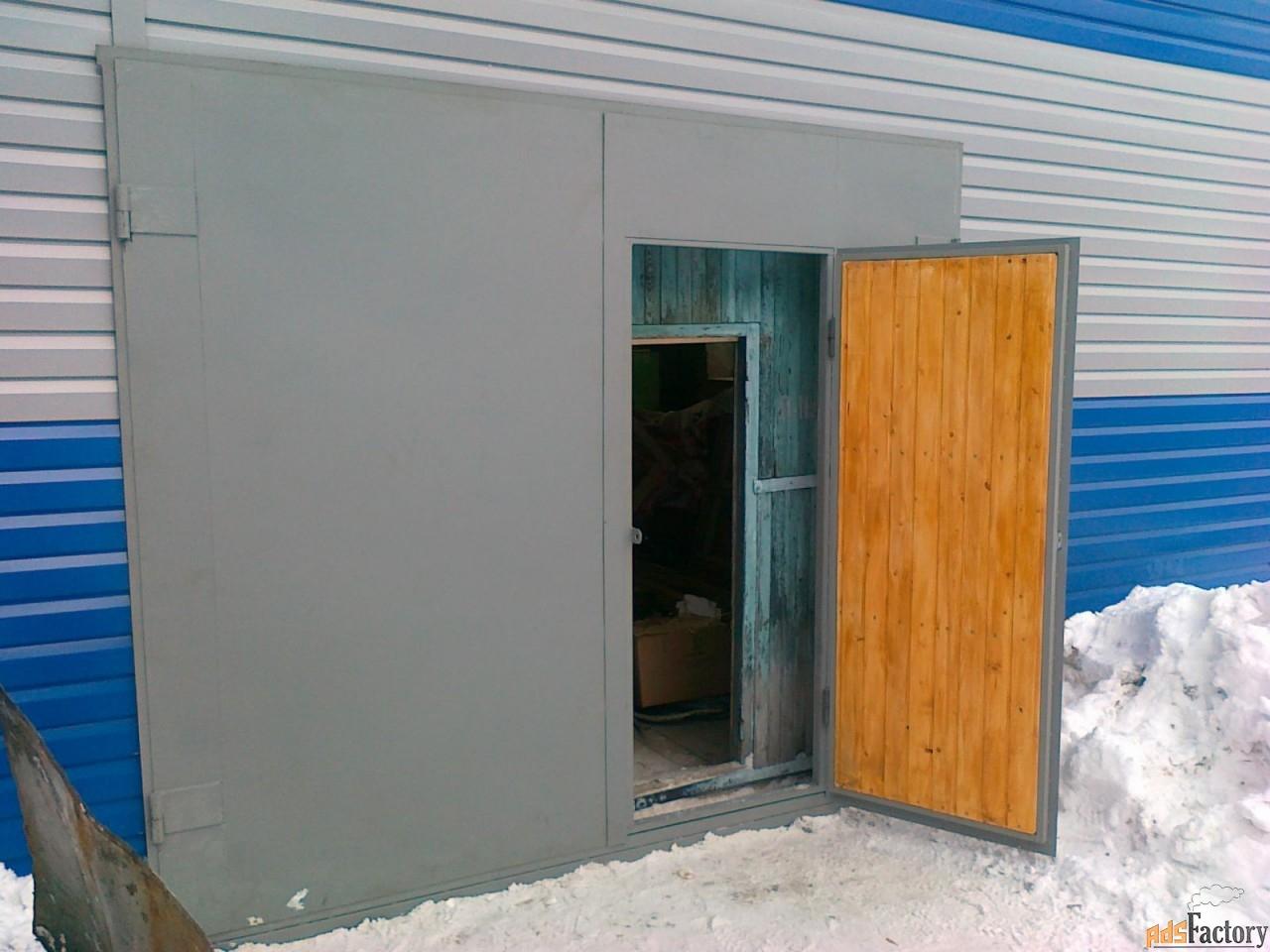 Металлические гаражные ворота, утепленные и нет, на заказ
