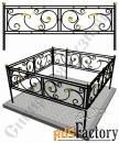 Изготовление кованой оградки на могилу №1 (по вашим размерам)