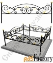 Изготовление кованой оградки на могилу №2 (по вашим размерам)