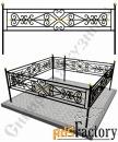 Изготовление кованой оградки на могилу №4 (по вашим размерам)