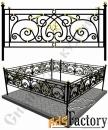 Изготовление кованой оградки на могилу №5 (по вашим размерам)