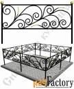 Изготовление кованой оградки на могилу №8 (по вашим размерам)