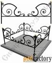 Изготовление кованой оградки на могилу №9 (по вашим размерам)