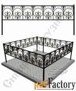 Изготовление кованой оградки на могилу №15 (по вашим размерам)