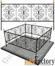 Изготовление кованой оградки на могилу №17 (по вашим размерам)