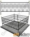 Изготовление кованой оградки на могилу №18 (по вашим размерам)
