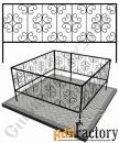 Изготовление кованой оградки на могилу №19 (по вашим размерам)
