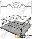 Изготовление кованой оградки на могилу №23 (по вашим размерам)