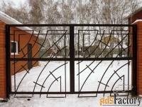 Металлические распашные ворота - изготовим на заказ по вашим размерам