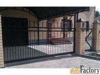 Металлические откатные ворота - изготовим на заказ по вашим размерам
