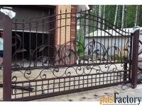 Кованые откатные ворота - изготовим на заказ по вашим размерам
