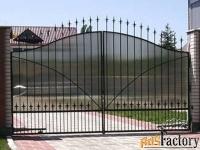 Металлические ворота и калитки с поликарбонатом - изготовим на заказ