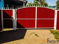 Металлические ворота и калитки с стальным листом - изготовим на заказ
