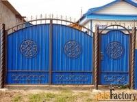 Кованые ворота и калитки с профлистом - изготовим на заказ