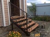 Металлические крылечки для дома, дачи, магазина  - изготовим на заказ