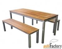 Комплект садовый: стол и 2 лавки