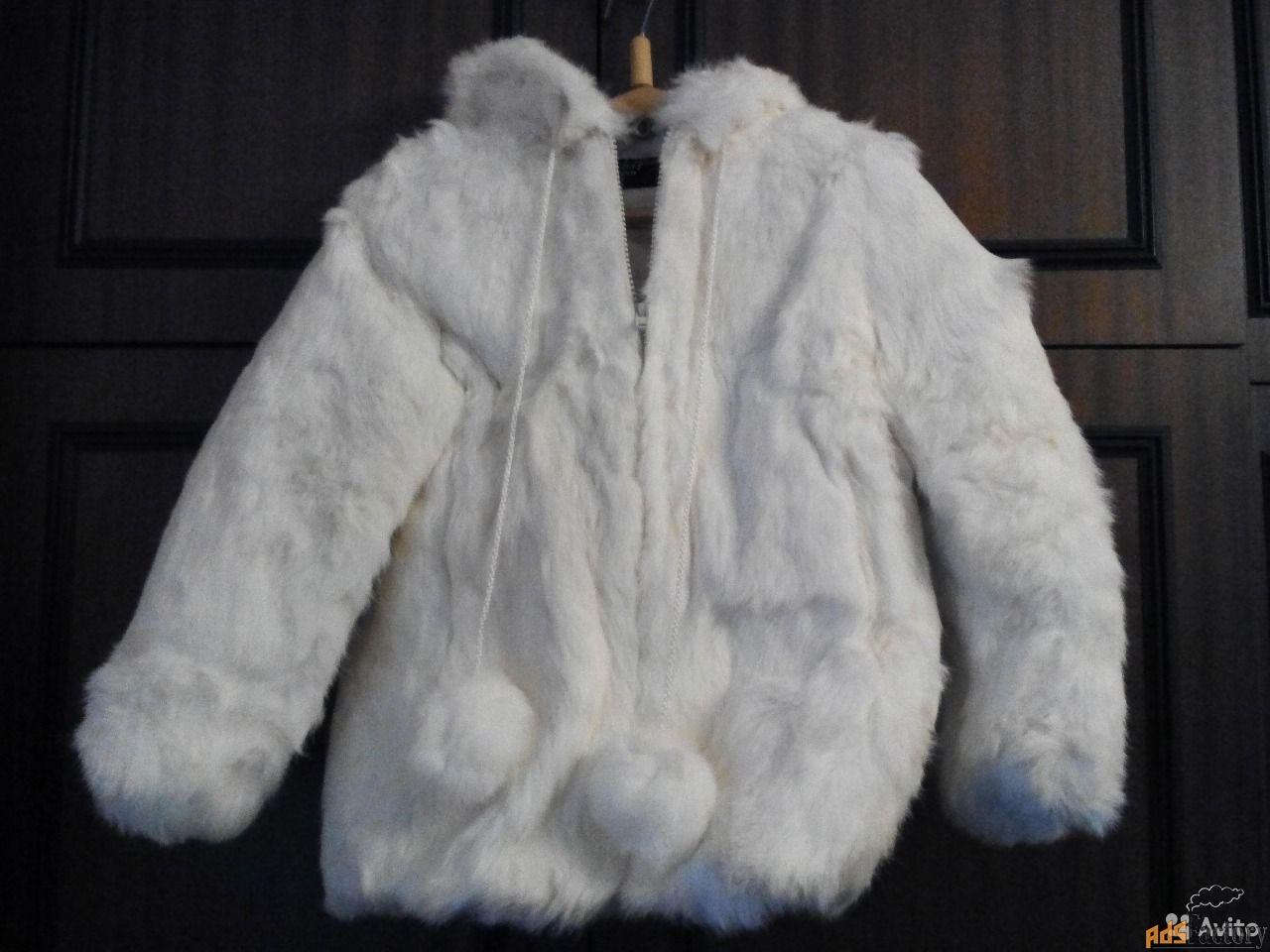 Новая детская шубка из меха кролика 24 размера