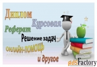 Реферат, задачи, курсовая, диплом и др.