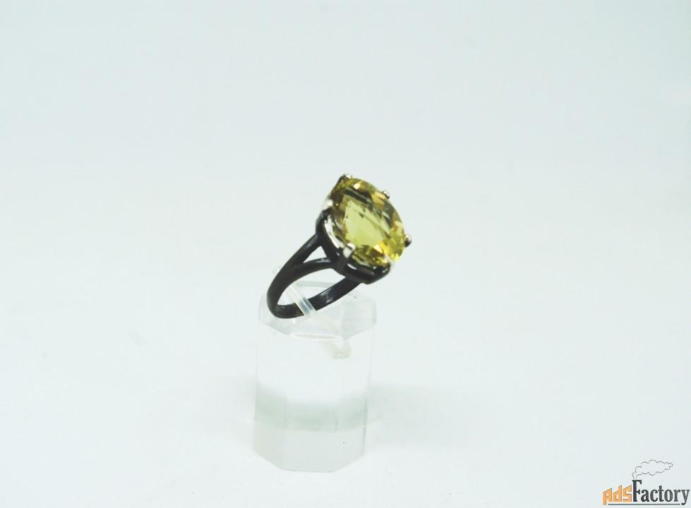 Серебреное кальцо с природным цитрином