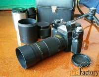 Фотоаппарат пленочный Зенит 11 с объективом МС Юпитер 37А и телеконвер