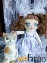Текстильные куклы ручной работы в подарок, для интерьера, игровые. v-1