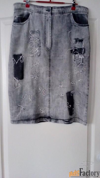 Летняя джинсовая юбка