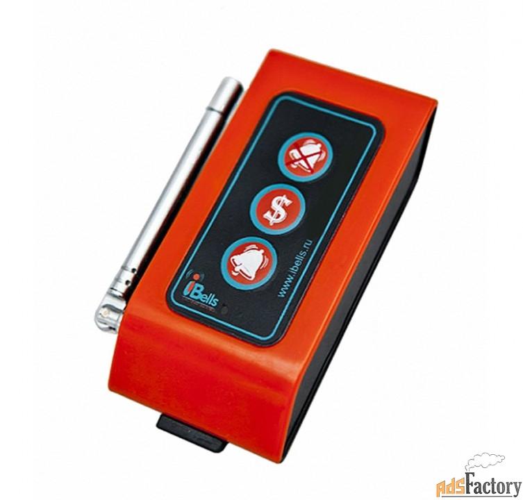 ibells-307 оранжевая, кнопка вызова персонала, с усилением сигнала
