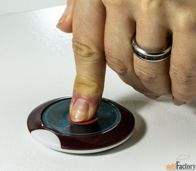 ibells-305, кнопка вызова персонала, тонкая (вишневая)