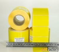 этикетки58х40 мм, желтые, полная заливка, термочувствительные эко 700