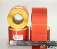 этикетки58х40 мм, красные, полная заливка, термочувствительные эко 70