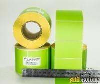 этикетки58х40 мм, зеленые, полная заливка, термочувствительные 700 шт