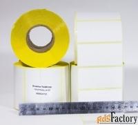 этикетки 70х35 мм полуглянцевые, 1000 шт., самоклеящиеся