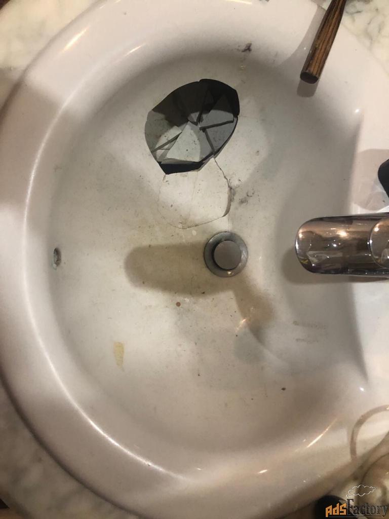 ремонт сколов на ванне, раковине, поддоне.