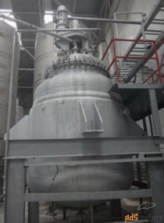 продается реактор эмалированный, объем -10 куб.м
