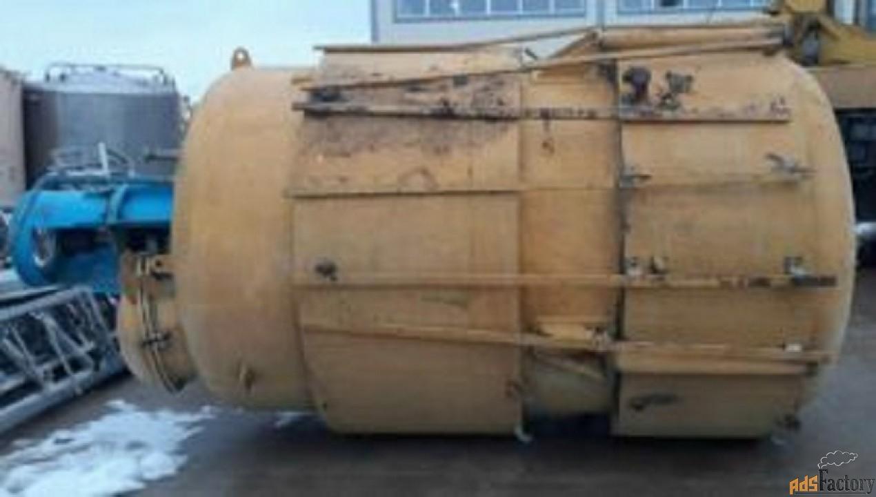 Продается Реактор би-металл (внутри нержавейка), объем — 7 куб.м.,