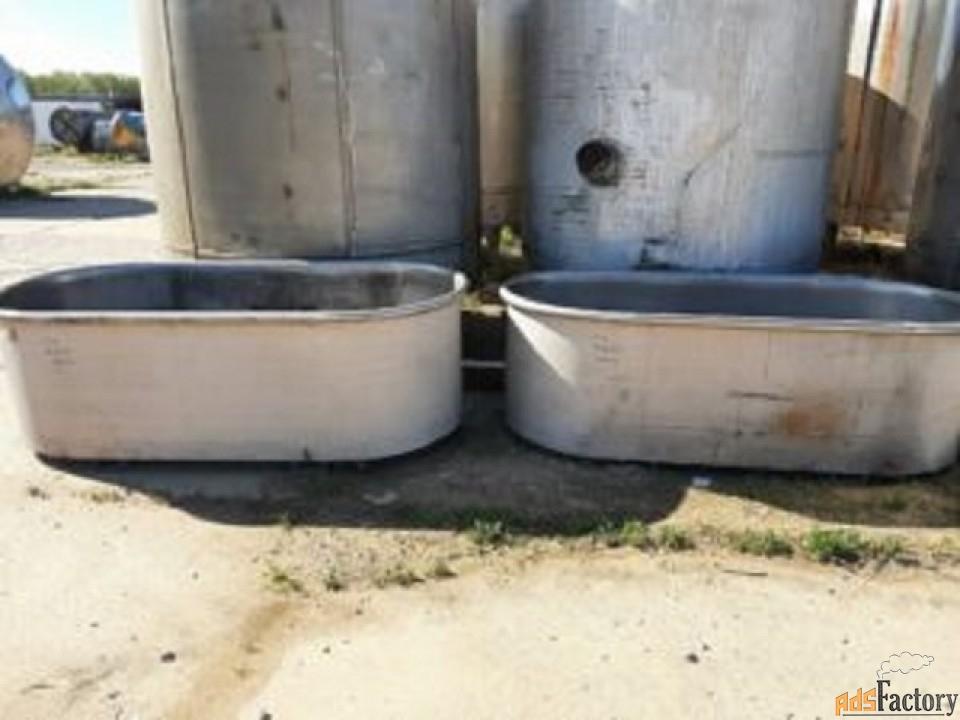 Продаются Ванны нержавеющие, объем — 1 куб.м.