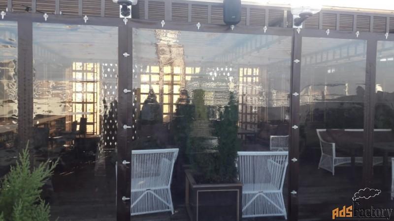 защитные шторы пвх для террасы, беседки, веранды