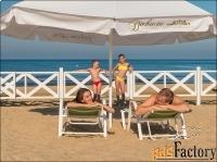 зонты для кафе, торговые, пляжные, дачные в ассорт