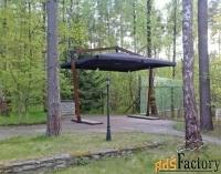 зонт на двойной опоре 5 х 5 м.