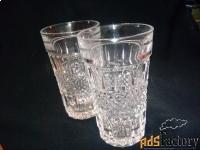 два хрустальных стакана - ссср.